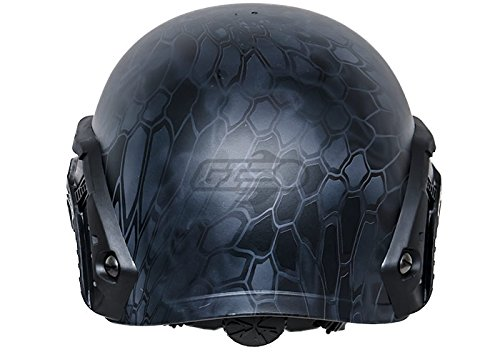 Lancer Tactical Airsoft Goggle 4 Lancer Tactical CA-726B FAST Helmet MH Type Custom Color (Black)