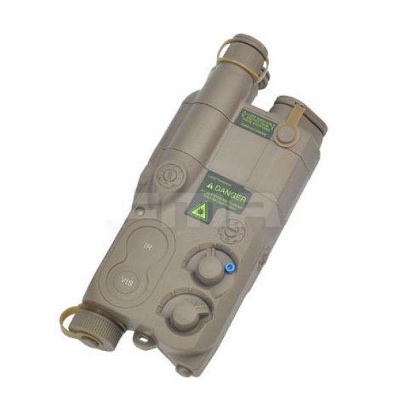 H World Shopping Airsoft Battery 1 H World Shopping Tactical Airsoft an/ PEQ16 Battery Case DE Dummy AEG with RIS Mount