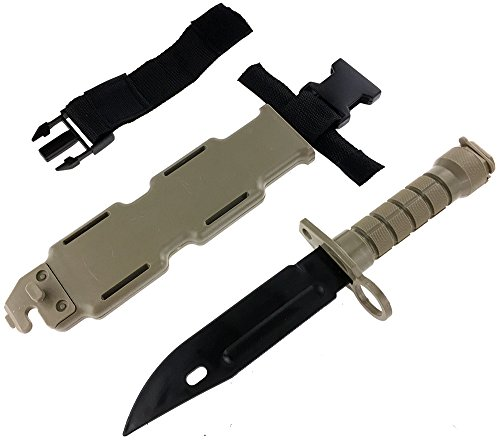 SportPro Airsoft Tool 6 SportPro Rubber Combat Knife M9 Style for Training Airsoft Dark Earth