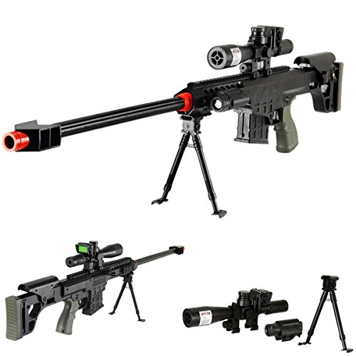 """UKARMS  1 UKARMS 36"""" Elite Airsoft Sniper Rifle 315FPS with Laser"""