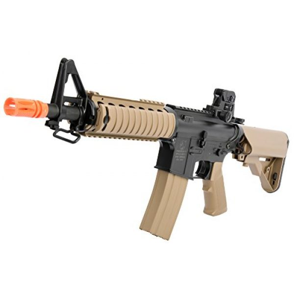 Colt Airsoft Rifle 4 Colt Soft Air CQBR-RIS Electric Powered Airsoft Gun with Adjustable Hop-Up, 350-380 FPS