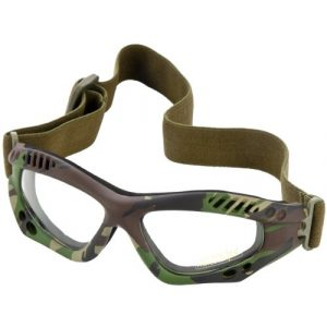 Miltec Airsoft Goggle 1 Mil-Tec Commando Goggles Air Pro Clear Lens Woodland Frame
