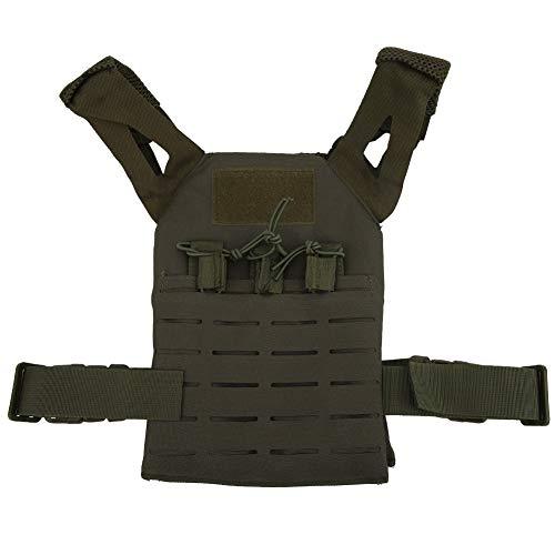 Alomejor Airsoft Tactical Vest 6 Alomejor Airsoft Paintball Vest Children Adjustable Waistcoat Jacket Combat Training Vest for Outdoors Games Thick Guard