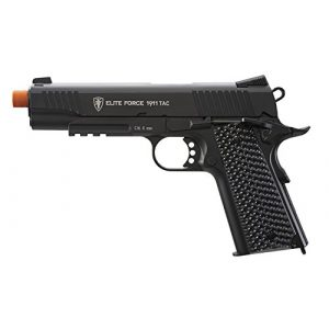 Elite Force Airsoft Pistol 1 Elite Force 1911 Blowback 6mm BB Pistol Airsoft Gun, Black, 1911 TAC, 2279555