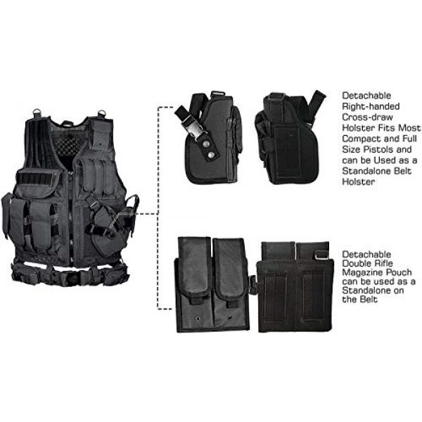 YoMont Airsoft Tactical Vest 5 YoMont Tactical Vest Outdoor Molle Vest Military for Man Women Youth Trainning Tactical Airsoft Combat Vest 600D Encryption Polyester-Military Vest-Adjustable Lightweight