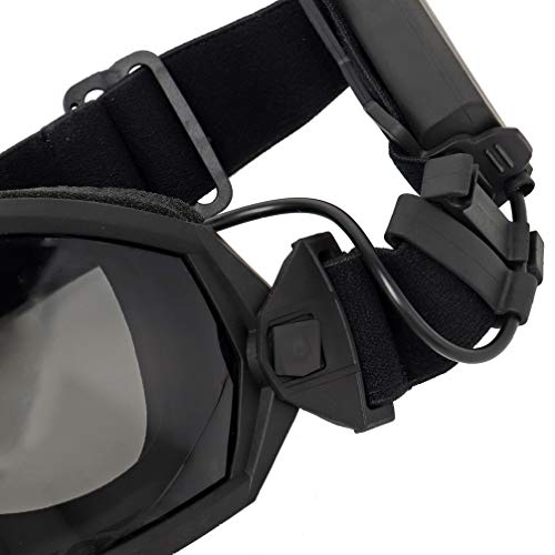 Simways Airsoft Goggle 5 Simways Airsoft Anti Fog Goggles with Fan Clear and Tinted Lens for Tactial Ski Riding Snowboard