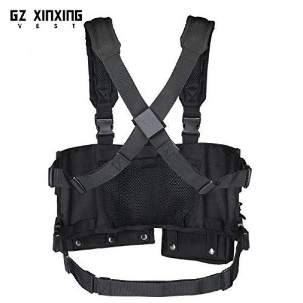 GZ XINXING Airsoft Tactical Vest 5 GZ XINXING Chest Rig Tactical Vest X Harness for Airsoft Shooting Wargame Paintball