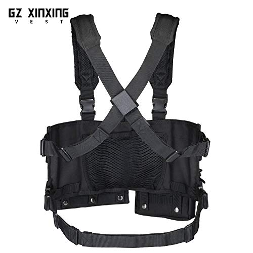 GZ XINXING Airsoft Tactical Vest 5 GZ XINXING Chest Rig Tactical Vest X Harness for Airsoft Shooting Wargame Paintball