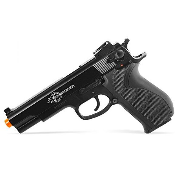 Fire Power Airsoft Pistol 5 Firepower .45 Metal Slide Spring Powered Airsoft Pistol with Hop-Up, 325 FPS
