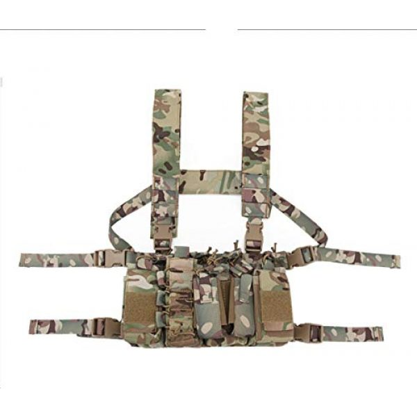 Tactical Area Airsoft Tactical Vest 2 Chest Rig Hunting Vest Molle Pouch Simple Military Tactical Vest with Pouchs