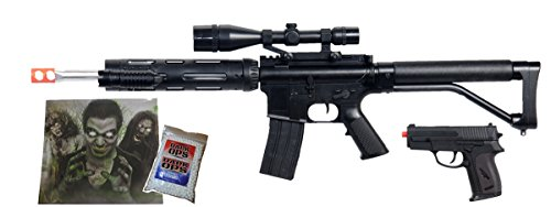 UKARMS Airsoft Rifle 1 UKARMS Spring M4 M16 Airsoft Rifle w/Scope