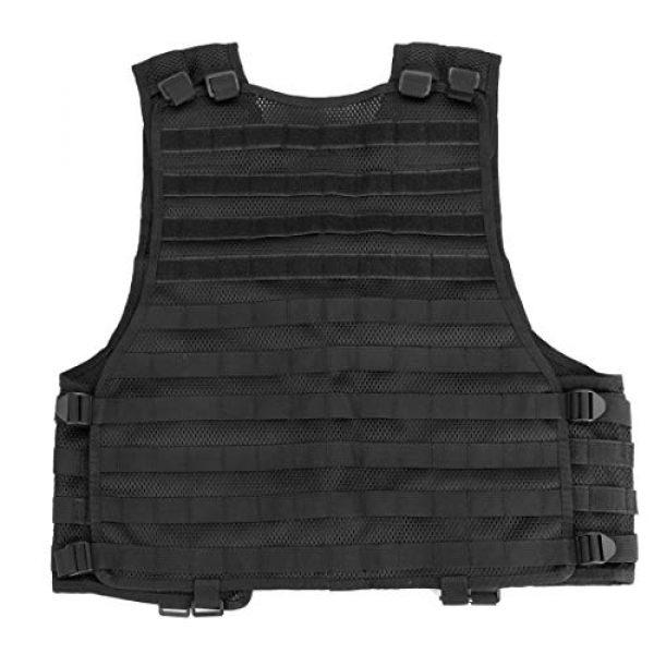 Chief Tac Airsoft Tactical Vest 5 Chief Tac Military Tactical Molle Vest Mesh Light Army Airsoft Paintball Utility Vest, Breathable Lightweight Hunting Fishing Vest for Men