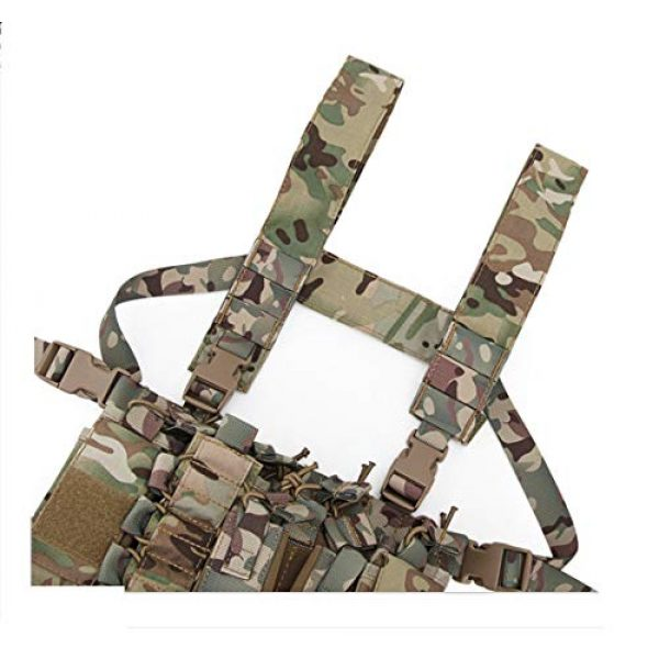 Tactical Area Airsoft Tactical Vest 4 Chest Rig Hunting Vest Molle Pouch Simple Military Tactical Vest with Pouchs