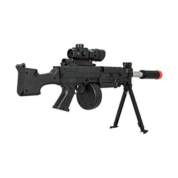 UKARMS Airsoft Rifle 4 UKARMS Tactical LMG Spring Airsoft Rifle Gun FPS 300