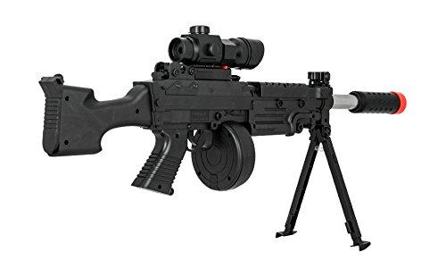 UKARMS  4 UKARMS Tactical LMG Spring Airsoft Rifle Gun FPS 300