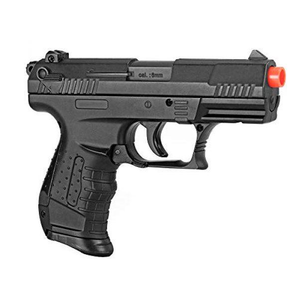 BBTac Airsoft Pistol 1 BBTac Airsoft Pistol - Metal Slide Airsoft Gun Spring Powered 240 FPS, Metal Alloy Construction (Black)