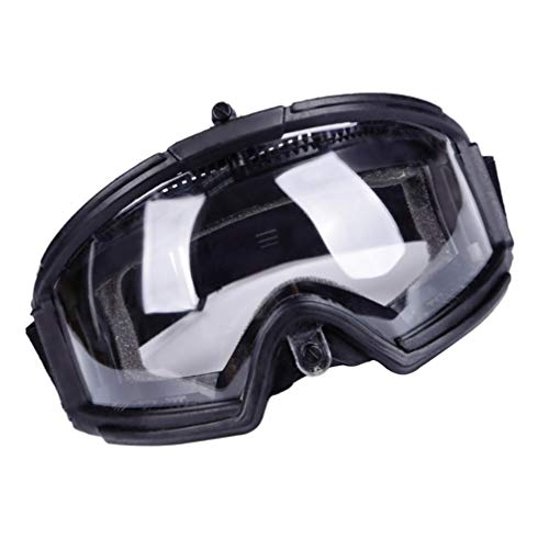 BESPORTBLE Airsoft Goggle 3 BESPORTBLE Protective Safety Goggle Anti-Fog Anti-Spitting Anti-Saliva Goggles Eyewear Eyeshield Safety Glasses -Black