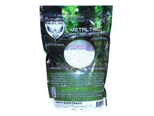MetalTac  2 MetalTac Airsoft BBS Bio-Degradable .20g Perfect Grade High Precision 6mm BB Pellets (Bag of 5000 Rounds)