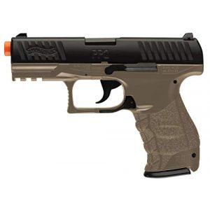 Elite Force Airsoft Pistol 1 Walther PPQ Spring Powered 6mm BB Pistol Airsoft Gun, Dark Earth Brown