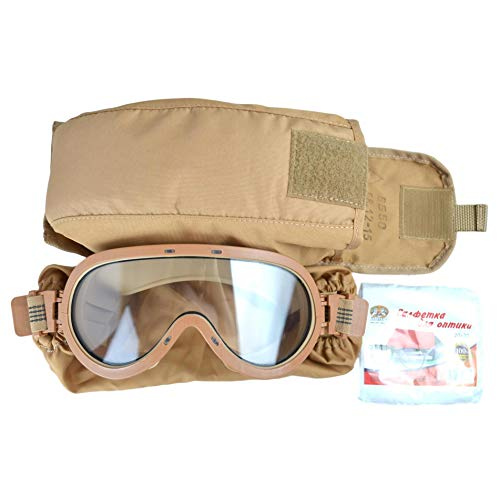 NPP Klass Airsoft Goggle 1 NPP Klass 6B50 Ratnik Goggles of Russian Army with Sand Molle Pouch for Syria
