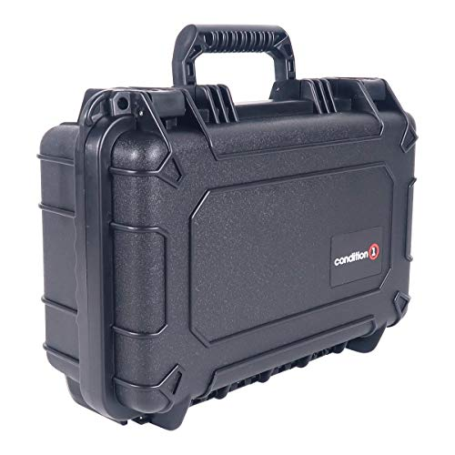"Black - 13"" x 9"" x 5"" #232 Watertight IP67 Dust Proof and Shock Proof TSA Approved Portable Carrier"