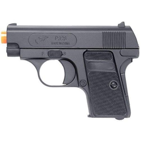 Double Eagle Airsoft Pistol 3 Double Eagle 2 x A&N P328 Compact Spring Airsoft Pistol Hand Gun with 6mm BBS BB Black Great Pistol for Entry Level Airsoft Players