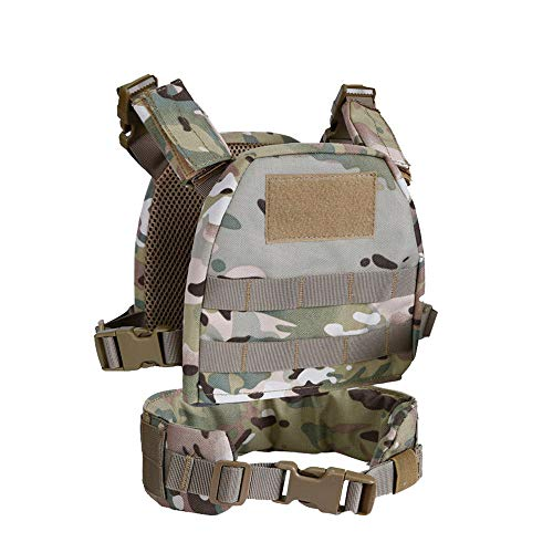 Armiya Airsoft Tactical Vest 1 Armiya Tactical Kids Chest Rig Molle Military Mini Protective Gear Children Vest Suit with Patrol Belt and Adjustable Straps
