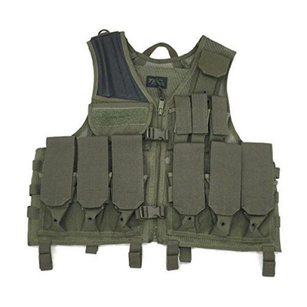 TAC Force Airsoft Tactical Vest 1 TAC Force Commando Tactical Vest, OD Green