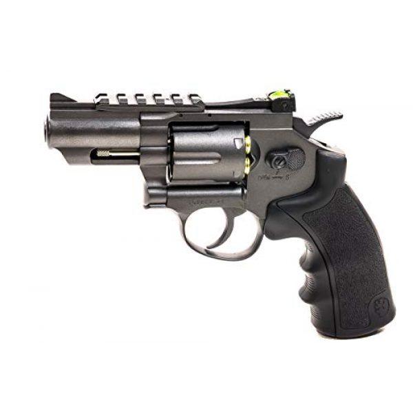 Black Ops Air Pistol 5 Black Ops Exterminator 2.5 Inch Revolver - Gun Metal Finish - Full Metal CO2 BB/Pellet Gun - Shoot .177 BBs or Pellets