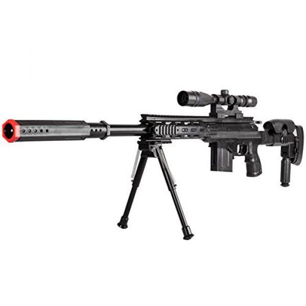 BBTac Airsoft Rifle 2 BBTac Airsoft Sniper Gun Package - Powerful Spring Sniper Rifle, Shotgun, 6mm BB Pellets, Great Starter Pack