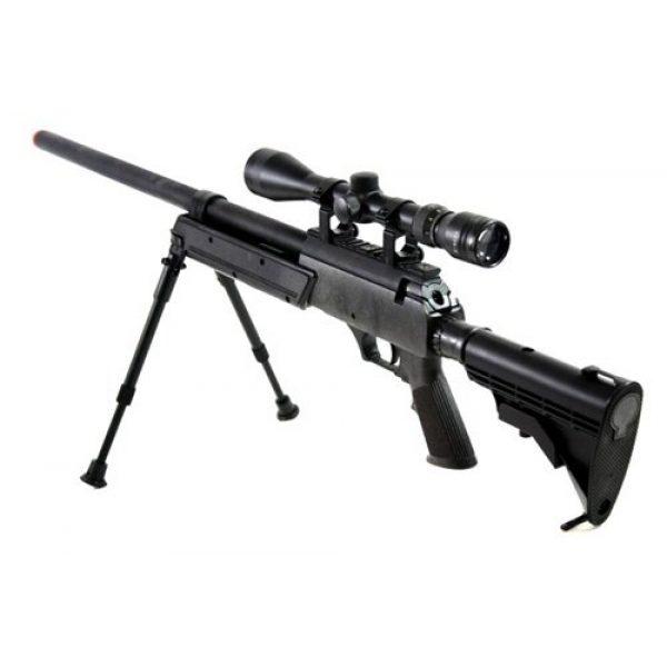 BBTac Airsoft Rifle 2 470 fps wellfire aps sr-2 modular full metal bolt action sniper rifle w/ scope pkg mb06d(Airsoft Gun)