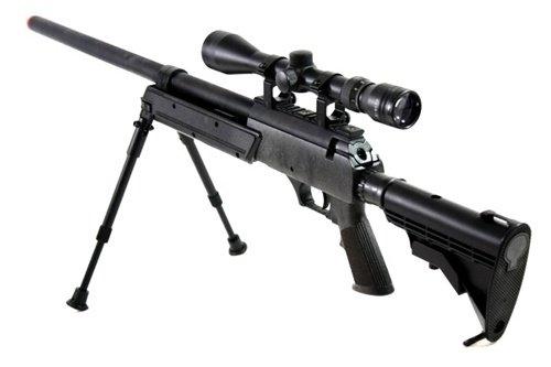 BBTac  2 470 fps wellfire aps sr-2 modular full metal bolt action sniper rifle w/ scope pkg mb06d(Airsoft Gun)