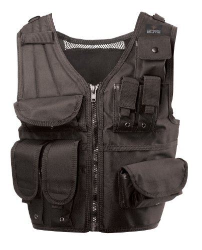 Game Face Airsoft Tactical Vest 1 GameFace 80501 Elite Tactical Airsoft Harness With Adjustable Straps And Multi-Use Pockets