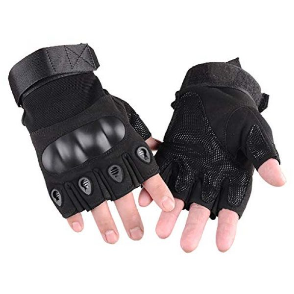 WELOVEHOME Airsoft Glove 2 WELOVEHOME Tactical Gloves Fingerless Hard Knuckle for Military Combat Hiking Cycling Motorcycle Climbing Outdoor Camping Paintball Sports Airsoft Gloves