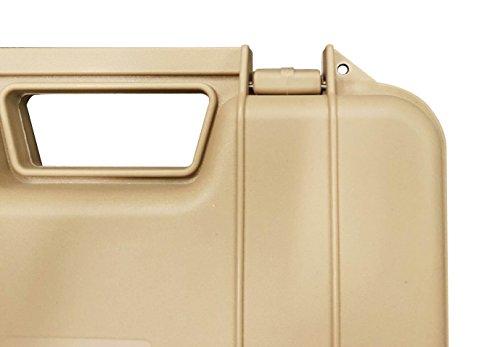 SRC  5 SRC Tan Foam Padded Plastic Airsoft Rifle Gun Case