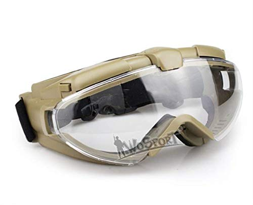 Tactical Area Airsoft Goggle 1 Tactical Airsoft Paintball Anti-Fog Goggles for Helmet Riding Cycling Resistance UV Protection Glasses PC Lens Glasses for Outdoor Hunting
