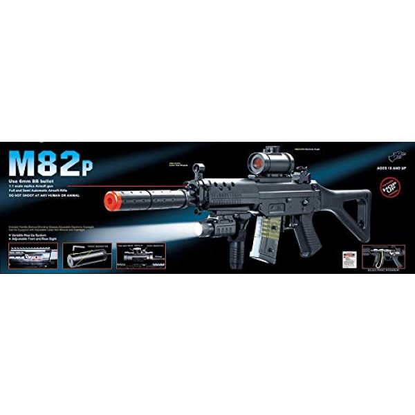 Double Eagle Airsoft Rifle 1 Double Eagle M82 Full Auto Airsoft Electric Gun Folding Stock 200fps