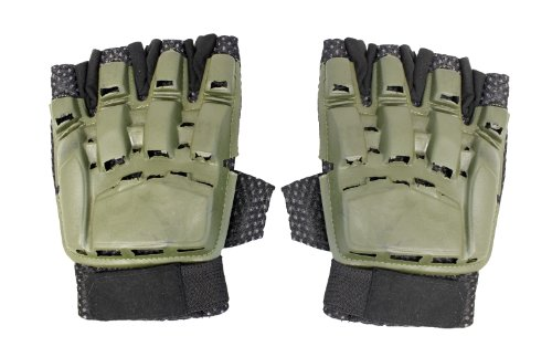 UKARMS Airsoft Glove 1 UKARMS Half Finger CQB Airsoft and Paintball Gloves (OD Green