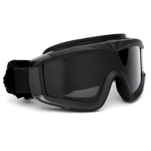 SPOSUNE Airsoft Goggle 2 Outdoor Sports Military Airsoft Tactical Goggles with 3 Interchangable Lens Impact resistance Hunting Eyewear
