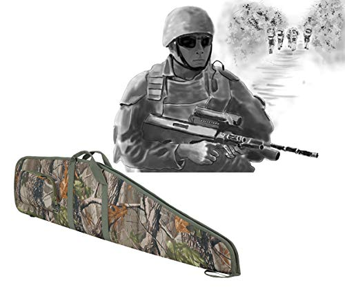 SOWLAND Airsoft Gun Case 7 SOWLAND Rifle Case 44/48/52 Inch Padded Scoped Long Shotgun Case Tactical Hunting Shooting Range Sports Storage Bag