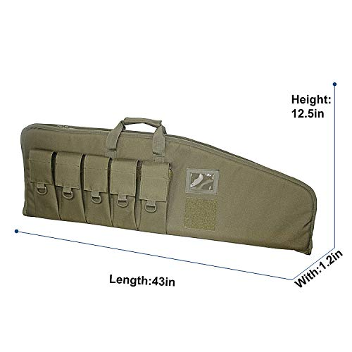 paladins Airsoft Gun Case 4 paladins 38 inch Single Rifle Soft Cases with Foam Padding