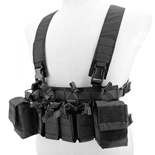 Jadedragon Airsoft Tactical Vest 2 Jadedragon Tactical Chest Vest with Drop Pouch Sub Abdominal Carrying Kit Bag and Multi-Pockets for Airsoft Shooting Wargame Paintball