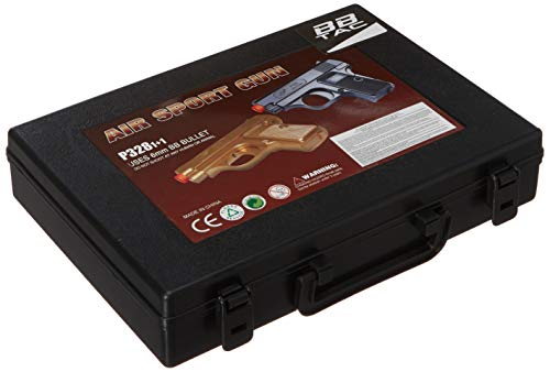 BBTac  3 BBTac Airsoft Spy Handgun - Twin Pack Pocket Pistol Gun with Storage Case (Gold & Black)