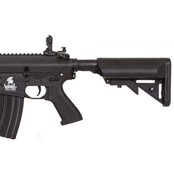 Lancer Tactical Airsoft Rifle 5 Lancer Tactical LT-12B-G2 Gen 2 RIS M4 Carbine AEG Airsoft Rifle (Black)