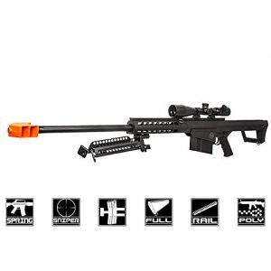 Lancer Tactical Airsoft Rifle 1 Lancer Tactical M82 Polymer Spring Sniper Rifle w/Bipod Airsoft Gun