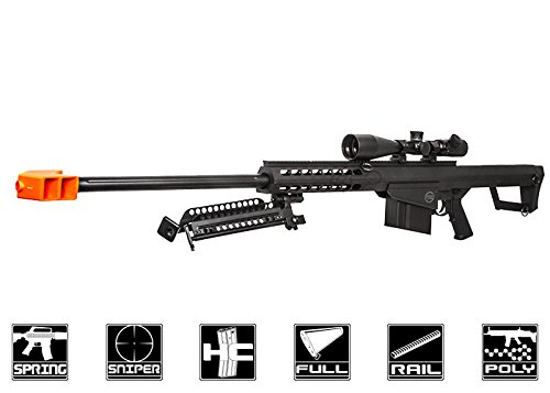 Lancer Tactical  1 Lancer Tactical M82 Polymer Spring Sniper Rifle w/Bipod Airsoft Gun
