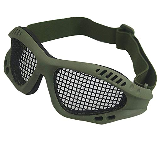 Tounlinx Airsoft Goggle 1 Tounlinx Tactical Goggles Metal Mesh Protective Airsoft Goggles with Adjustable Strap Outdoor CS Survival Game Tactical Shooting Protector Glasses Shock Resistance Cosplay Equipment