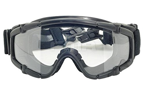 FMA Airsoft Goggle 1 FMA Airsoft Paintball OPS CORE Jump Helmet Rail Clear SI Goggles Glasses Black SWAT