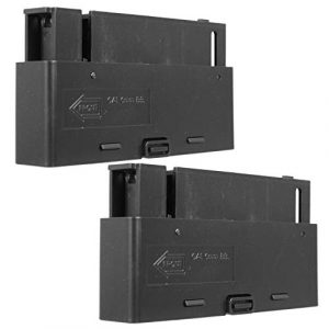 BBTac Airsoft Magazine 1 BBTac Airsoft Magazine Clip for Airsoft Sniper Rifle MB06 30 Rounds Mag Two Pack