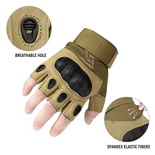 FREE SOLDIER Airsoft Glove 5 FREE SOLDIER Outdoor Half Finger Safety Heavy Duty Work Gardening Cycling Gloves